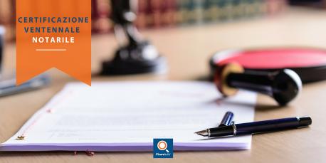 Certificazione ventennale notarile ex art. 567 CpC persona giuridica