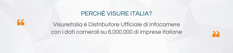 VisureItalia è Distributore Ufficiale di Infocamere con i dati camerali su 6.000.000 di imprese italiane