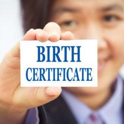 Certificato anagrafico di nascita
