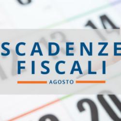 Quali sono le scadenze fiscali di agosto 2017