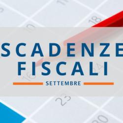 Le scadenze fiscali settembre 2017
