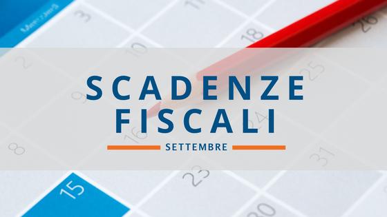 Scadenze fiscali settembre 2017: il calendario aggiornato
