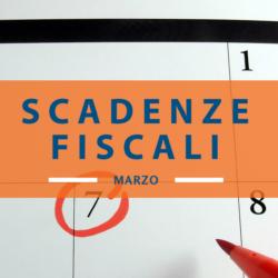 Il calendario delle scadenze fiscali di marzo 2018
