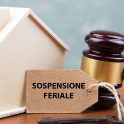 Istanza di vendita e sospensione feriale