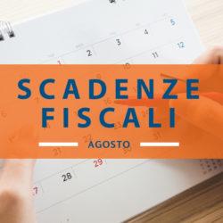 Quali sono le scadenze fiscali di agosto 2019