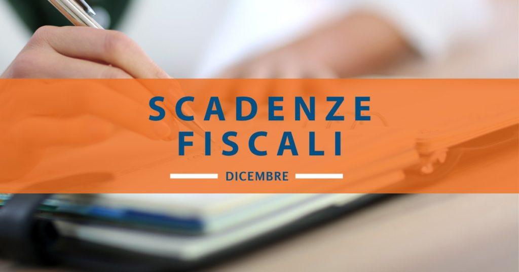 Scadenze fiscali dicembre 2019: quali date ricordare?
