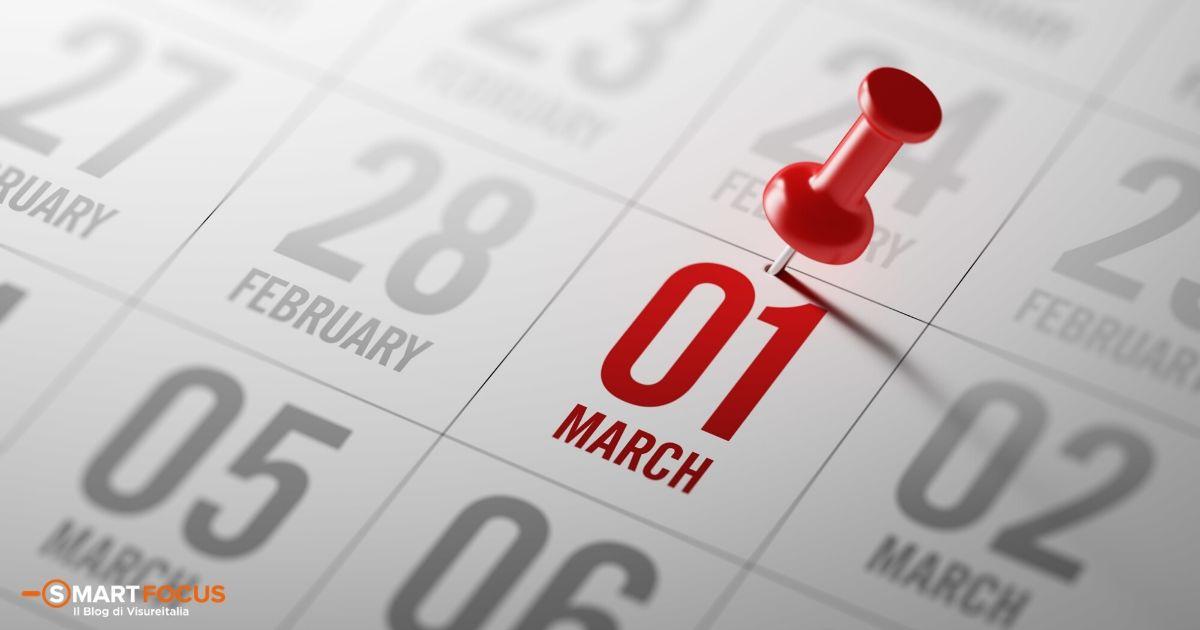 Le scadenze fiscali a marzo 2020: il calendario dell'Agenzia Entrate