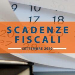 Le scadenze fiscali settembre 2020