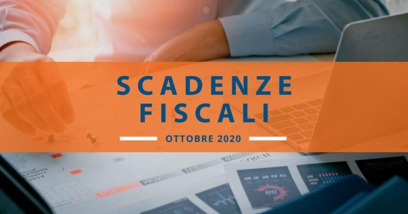 Scadenze fiscali di ottobre 2020: il calendario dell'Agenzia Entrate