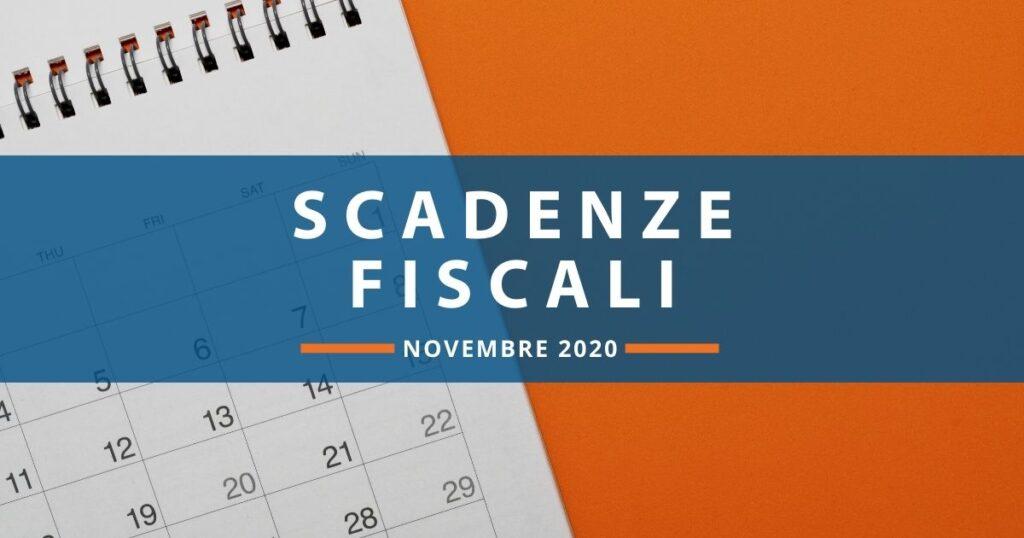 Scadenze fiscali novembre 2020: adempimenti, versamenti e dichiarazioni