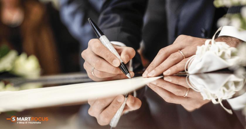 Atto di matrimonio: qual è la differenza tra estratto e copia integrale?