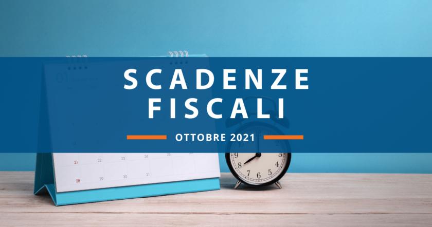 Scadenze fiscali di ottobre: ecco il calendario del mese